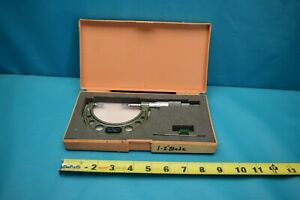Used Mitutoyo 1 2 122 126 Blade Micrometer With Case