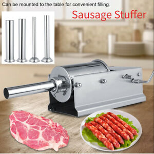 3l Horizontal Commercial Sausage Meat Stuffer Speed Stainless Steel Meat Press
