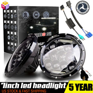 2pcs 7 Projector Drl Headlamp Led Headlights Fit For 1968 1979 Toyota Corolla