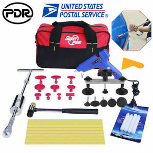 Us Pdr Tools Slide Hammer Dent Puller Paintless Hail Repair Removal Tap Down Kit