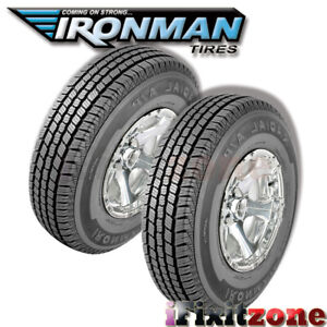 2 New Ironman Radial A p Lt225 75r16 10ply E load 115 112q Owl All Season Tires