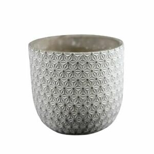 Round Vase Silicone Mold Concrete Flowerpot Mould Embossed Cement Planter Tool $130.19