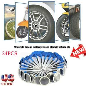 24pcs New Car Motorcycle Tubeless Tire Puncture Repair Mushroom Plug Patch Gum