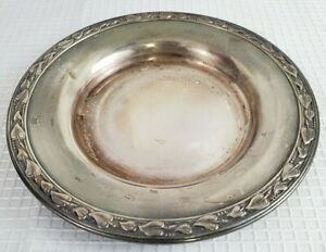 Wm A Rogers Meadowbrook Silver Plate Dish Leaves Vines Small Trinket Tray 5 5