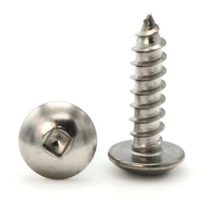 8 Sheet Metal Screws Stainless Steel Square Drive Truss Head Select Size