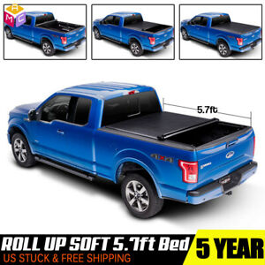 Roll Up Tonneau Cover For 2009 2018 Dodge Ram 1500 2010 2018 2500 3500 5 7ft Bed