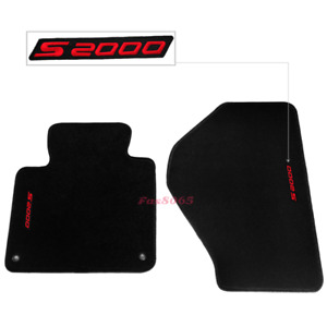 For 00 08 Honda S2000 2dr Black Nylon Floor Mats Carpets W Red S2000 Embroidery