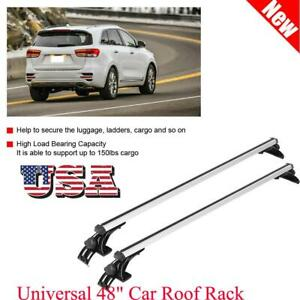 Universal 48 Car Top Roof Cross Bar Luggage Cargo Carrier Rack 3 Kinds Clamp