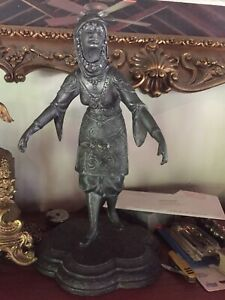 Antique Statue Of Lady 20 Tall Very Good