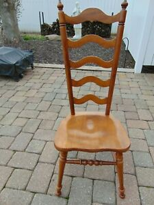 Tell City Furniture 8036 Andover Ladder Back Solid Bottom Chair Nice