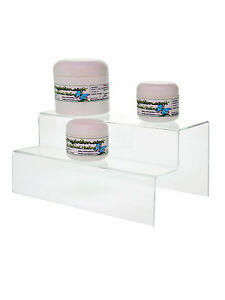 2 Tier 9 5 Acrylic Counter Jewelry Pedestal Perfume Display Riser Stand