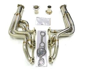 Maximizer Round Port Long Tube Header For 64 72 Pontiac Gto V8 389 400 455 Cid