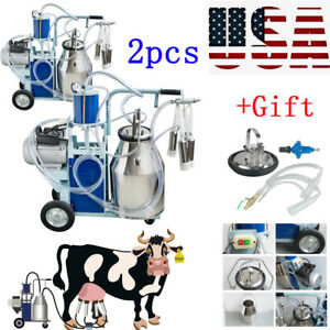 2xelectric Milking Machine For Goats Cows Bucket Automatic 25l Farmer gift Fda