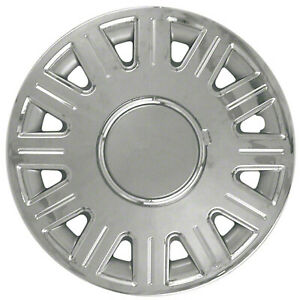 New Set Of 4 16 Inch Silver Chrome 12 Spoke Aftermarket Wheel Covers