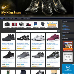 Nike Shoes Apparel Store Established Online Affiliate Business Website Sale