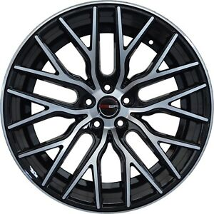 4 Gwg Wheels 20 Inch Black Flare Rims Fits Honda Civic Sedan 2012 2015