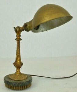 Rare Vintage Industrial Hubbell Brass Detailed Desk Lamp