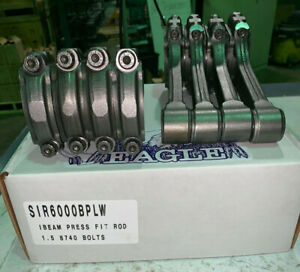 Eagle Zsir6000bplw 6 000 5140 Sb Chevy I Beam Connecting Rods Set Press Fit