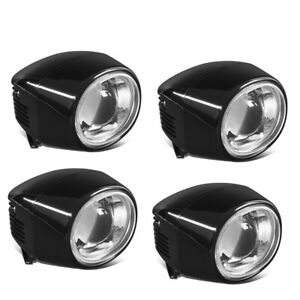 4x Universal Suv Truck Off Road Driving Front Projector Fog Light Lamp W Wiring
