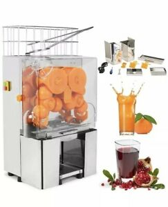 110v Electric Orange Juicer Commercial Squeezer Machine Lemon Automatic Feed