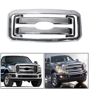 New Front Mesh Grille Fits 2011 2016 Ford F250 F350 Super Duty Grill Covers