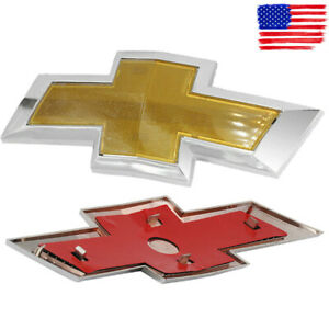 Emblem Grille Badge Grill Sign Symbol Logo Fits For 2011 2014 Chevy Cruze Gold