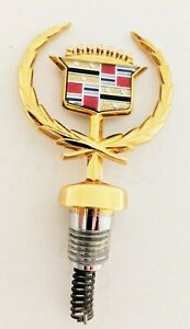Brand New Cadillac Deville 1991 1992 1993 Hood Ornament 24k Gold Plated