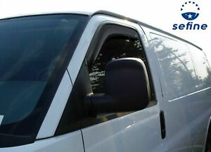 Avs 192455 In channel 2pc Window Ventvisor For 96 2020 Chevy Express