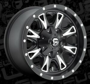 Fuel Throttle D513 17x6 5 8x6 5 Et 129 Black Wheels Rims Set