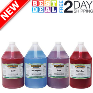 Hawaiian Shaved Ice Syrup 4 Pack Gallons