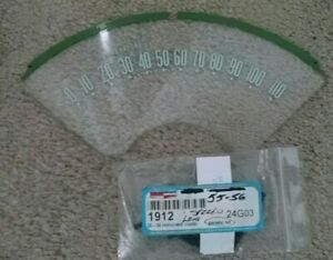 1955 1956 Chevy Speedometer Plastic Lens Face New With Gasket Set