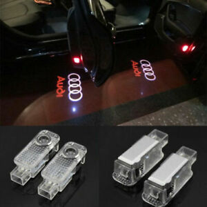 2x For Audi Logo Led Laser Projector Door Welcome Ghost Courtesy Puddle Lights