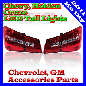 Rear Led Tail Lamp Lights Assy For 09 10 11 12 2013 2014 Chevy Holden Cruze