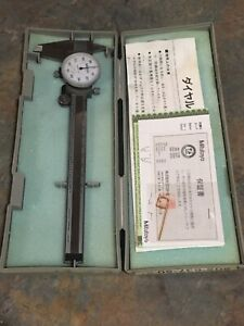 Mitutoyo 505 637 50 6 Caliper With Case And Paperwork Nice Shape