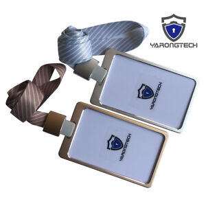 Id Badge Holder Aluminum Alloy Card Holder Business Card Vertical Metal Id Case