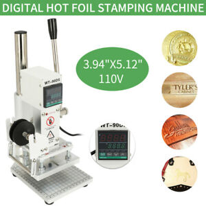 Digital Hot Foil Stamping Machine 110v Manual Bronzing Machine Holder 10 13cm
