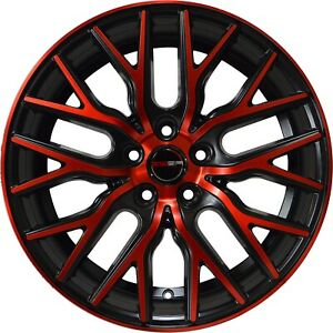4 Flare 20 Inch Red Rims Et20 Fits Jeep Grand Cherokee Overland 2014