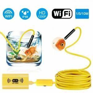 Wifi Cable Endoscope Wireless Borescope Inspection 8led Camera For Ios Android