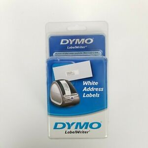 Dymo 30572 Labelwriter Self adhesive Address Labels 1 1 8 By 3 1 2 inch White