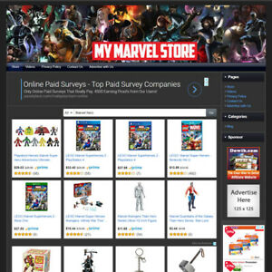 Marvel Super Hero Store Affiliate Business Website For Sale Work At Home Online