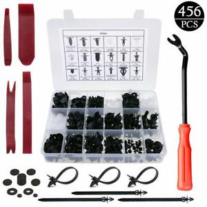 Retainer Clips Fasteners Kit Door Trim Panel With Removal Tools For Car New