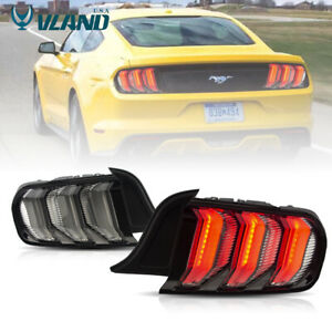 Vland Clear Led Tail Lights For Ford Mustang 2015 2019 S550 Led Rear Lighgs
