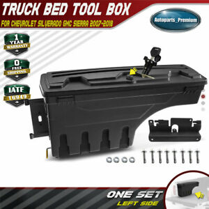 Truck Bed Storage Box Toolbox Left Driver For Chevy Silverado Gmc Sierra 07 18