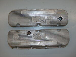 Holley M T Mickey Thompson Bbc Aluminum Finned Valve Covers Chevy 427 454 W Chip