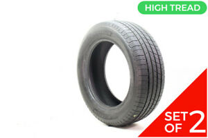 Set Of 2 Used 235 60r18 Michelin Defender T h 103h 9 32