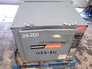 Hobart Accu charge Forklift Battery Charger 725c3 12 24 Volts 12 Cells