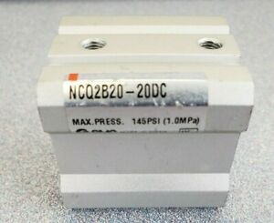 New Smc Ncq2 Compact Double Acting Cylinder Ncq2b20 20dc Max 145 Psi