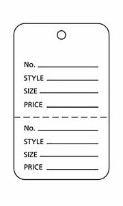 Tags Price Sale 3000 Perforated 1 X 1 Two Part White Unstrung Tag Small