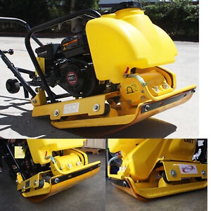 6 5hp 196cc Power Walk Behind Dirt Soil Vibratory Plate Compactor W Rubber Mat
