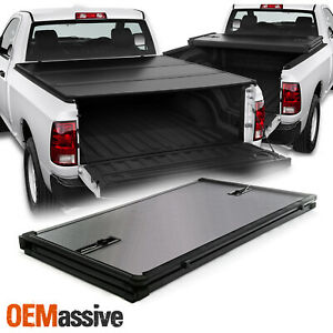 For 2009 2020 Ram 1500 2500 3500 6 5 Feet Fleetside Hard Tri Fold Tonneau Cover